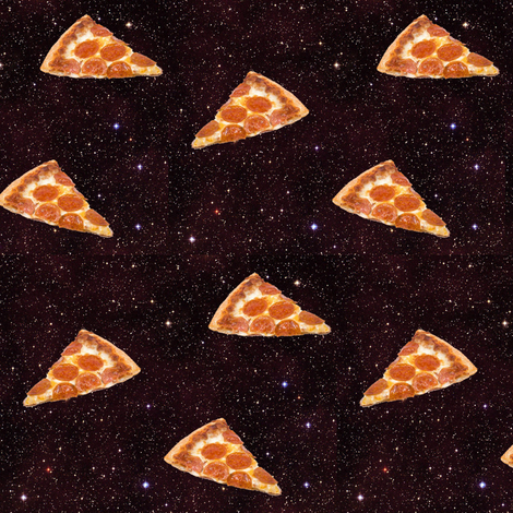 pizza galaxy fabric by sewoeno on Spoonflower - custom fabric
