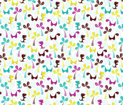 Dinosaurs fabric by mandakay on Spoonflower - custom fabric