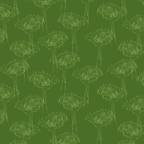 Bubbie's trees fabric by weavingmajor on Spoonflower - custom fabric