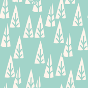 Holiday Trees - Pale Turquoise/Champagne