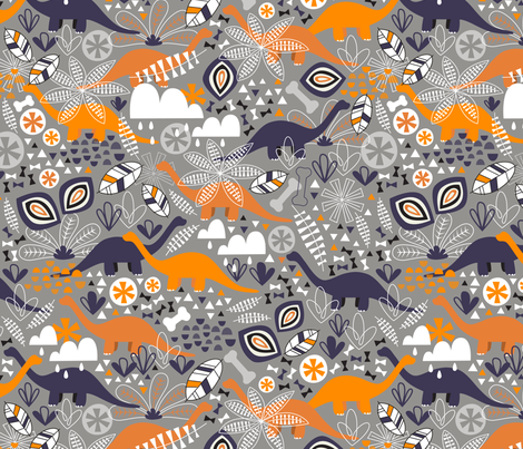 Dinosaur Forest fabric by nadiahassan on Spoonflower - custom fabric