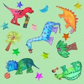 Tumbling Baby Dinos