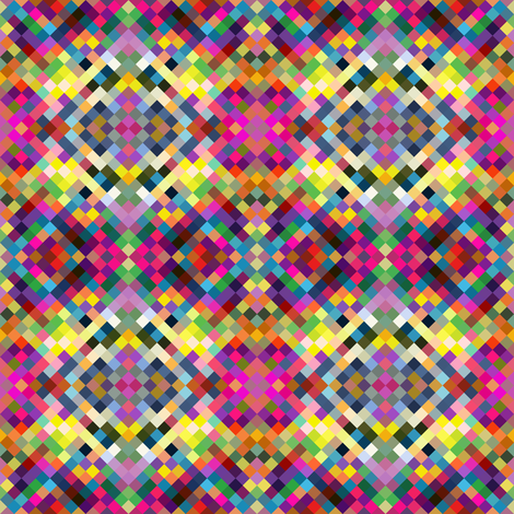 Small scale Color Block Pixels fabric by creativeqube_design on Spoonflower - custom fabric