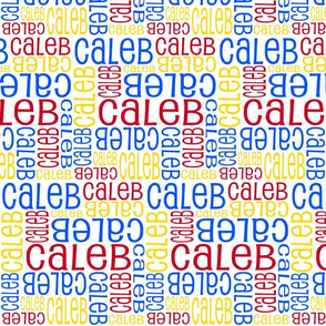 Personalised Name Fabric - Primary Colours