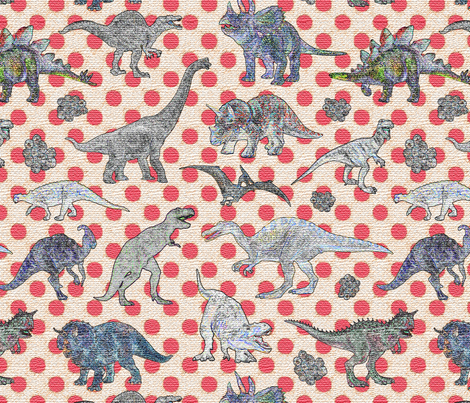 textured dinosaurs  fabric by fantazya on Spoonflower - custom fabric