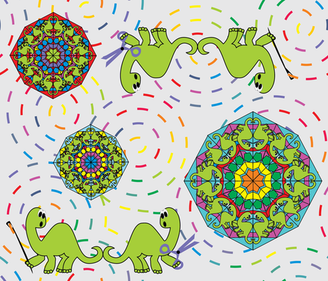 _Kaleiding__Quilting_Dinos fabric by cinthr on Spoonflower - custom fabric