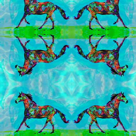 Celtic Horse 2 fabric by dovetail_designs on Spoonflower - custom fabric