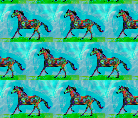 Celtic Horse 2 - Large fabric by dovetail_designs on Spoonflower - custom fabric