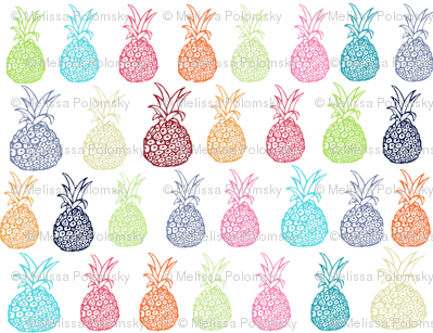 Summertime Pineapple Party- Small Print