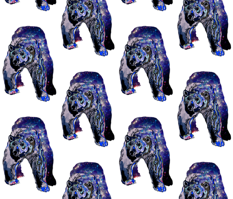 polarbear fabric by claravox on Spoonflower - custom fabric