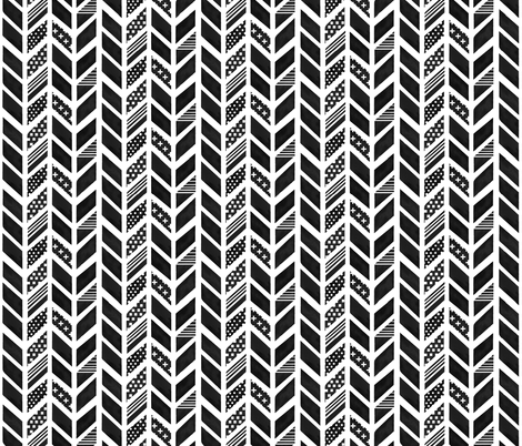 watercolorherringboneblack fabric by emilysanford on Spoonflower - custom fabric