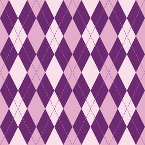 argyle in purple tone