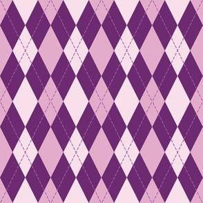 argyle in purple tone