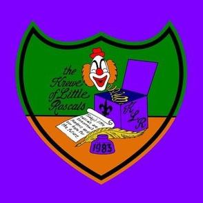 Krewe of Little Rascals Crest Logo 7x7