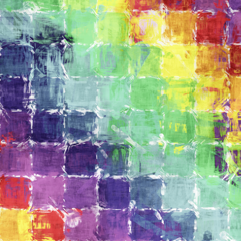 Painted Rainbow - Squares fabric by bonnie_phantasm on Spoonflower - custom fabric
