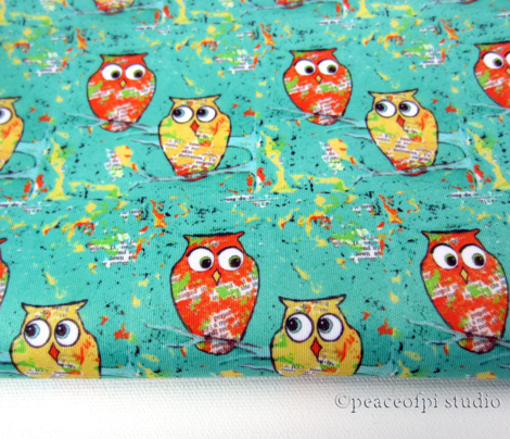 Orange Yellow Woodland Owls