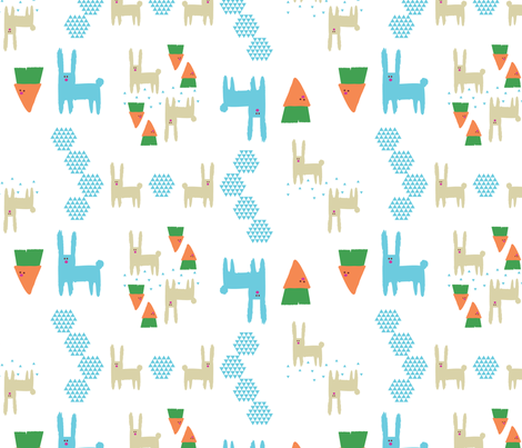 Bunnies and Carrots fabric by liina_koskaru on Spoonflower - custom fabric