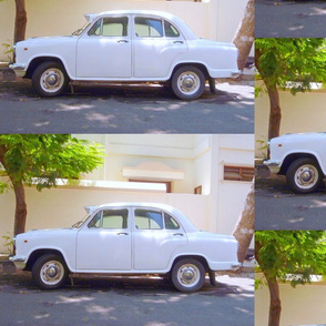 Indian Ambassador car in Pondicherry