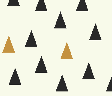 Triangles Black & Gold - Large Scale