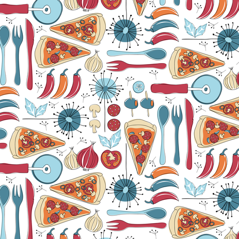 Italian food fabric by ebygomm on Spoonflower - custom fabric