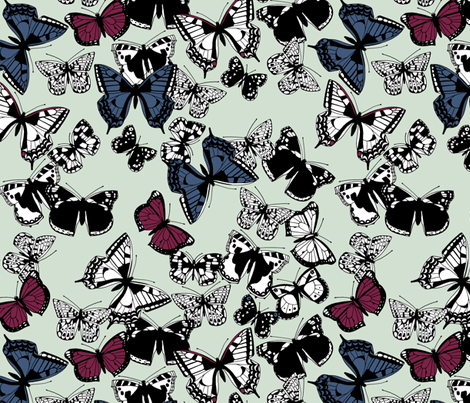 flutter carousel fabric by scrummy on Spoonflower - custom fabric