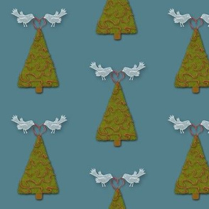 Christmas Tree with Doves