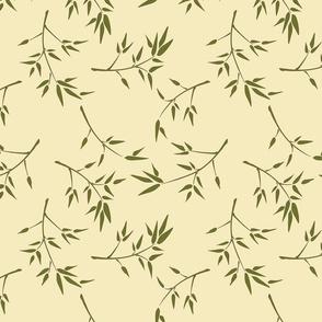Bamboo Branches on Gardenia