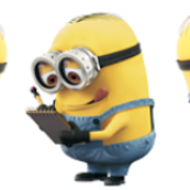 Minions acting cute