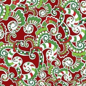 Swirls of Fun for Christmas -Red