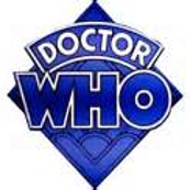 classic Doctor Who Logo Blue