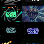 Multiple Doctor Who T.V. Logos