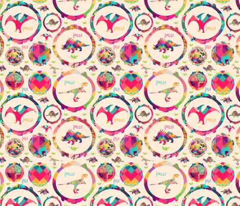 Roar at the Dinosaur fabric by creativeqube_design on Spoonflower - custom fabric
