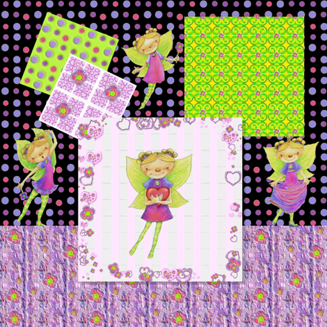 Happy Fairy Birthday tablecloth fabric by mariannemathiasen on Spoonflower - custom fabric