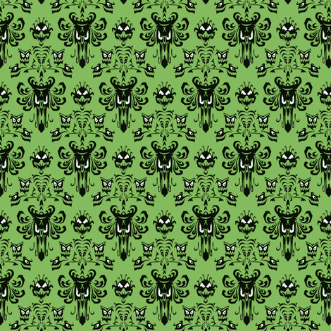 HM wallpaper green fabric by mx_angel on Spoonflower - custom fabric