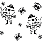 Rocky the Zombie Pirates on White
