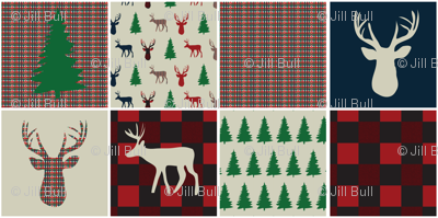 Woodsy Christmas Quilting Squares