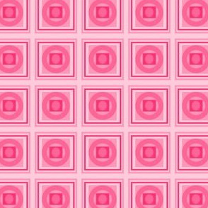 Section Lines and Crop Circles in Pink