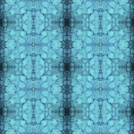 BLOOZ Blue fabric by suedudadesigns on Spoonflower - custom fabric