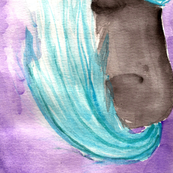 purple horse watercolor 5