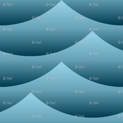 gradient wave zigzag - sailing