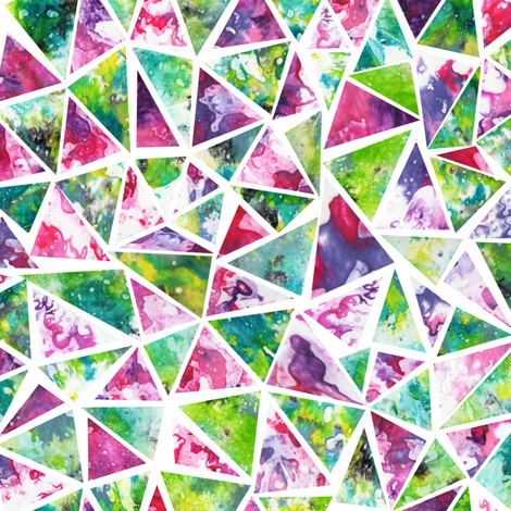 Cool Triangle Mosaic Pattern fabric by elephant_trunk_studio on Spoonflower - custom fabric