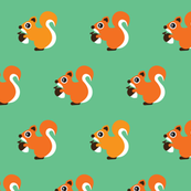 Retro fall orange squirrel