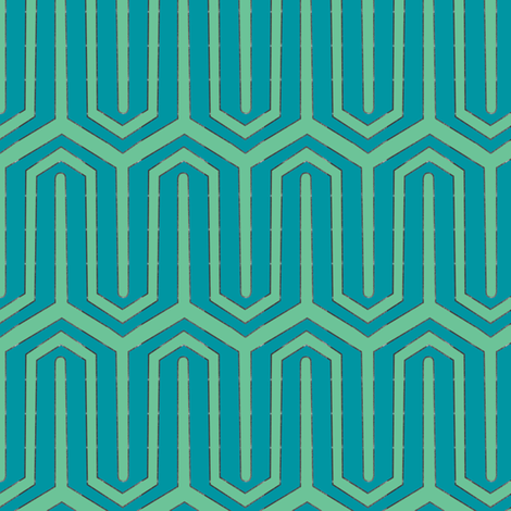 StandTal-teal fabric by sarahjanke on Spoonflower - custom fabric