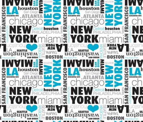 USA city typography print united states capitals
