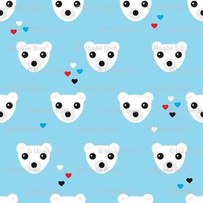 Polar bear winter love