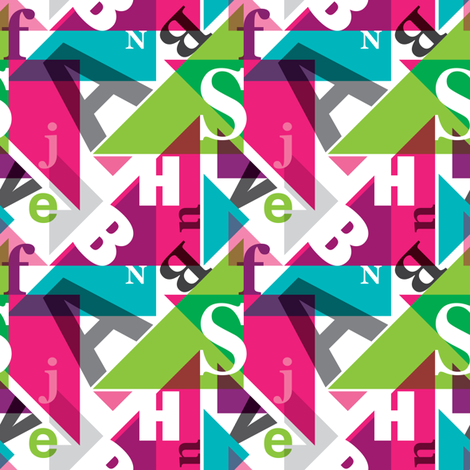 Colorful typography alphabet fabric by littlesmilemakers on Spoonflower - custom fabric