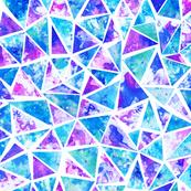 Cool purple and aqua triangle mosaic