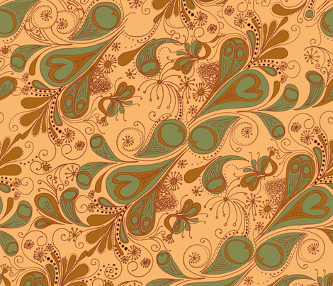 Paisley Peacock fabric by wiccked on Spoonflower - custom fabric