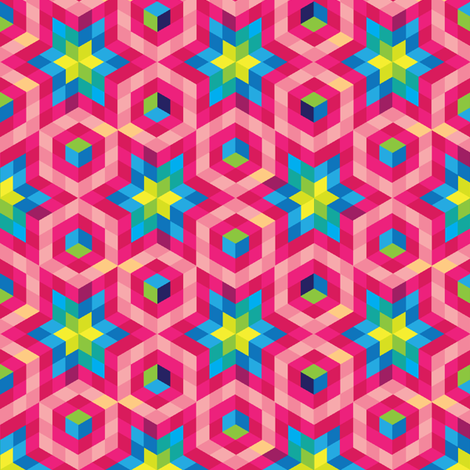 Facets fabric by ravenous on Spoonflower - custom fabric