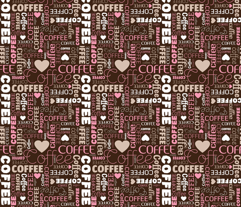 Coffee lovers hipster espresso typography text designs fabric by littlesmilemakers on Spoonflower - custom fabric